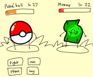 poké ball fights money