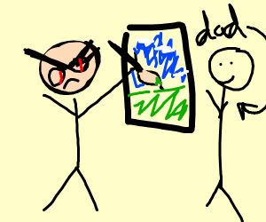 Passive aggressive girl paints pic for dad