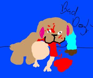 Bad Dog eats human