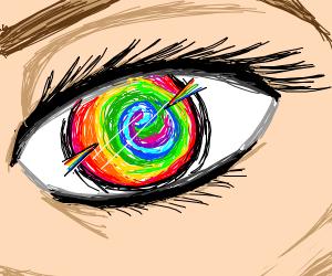 very colorful eyeball