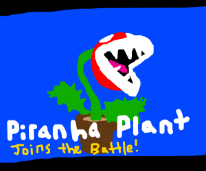 Piranha plant in Smash Bros