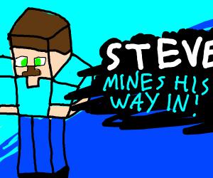 Steve mines his way in! (Smash Bros reveal)