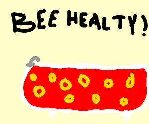 Bathtub of blood with cheerios