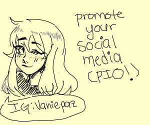 promote your social media PIO