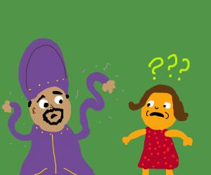 Hypnotized Sultan Cant Control Arms Near Lady