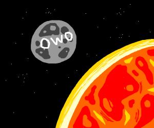 Kawaii moon in an alien planet