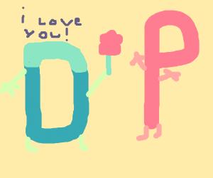 Drawception D loves P