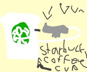 starbucks coffe shoots himself in the head