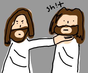 Jesus grabs jesus