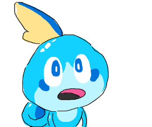 Sobble looks up at you