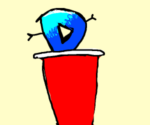 Drawceptions Logo in a red cup