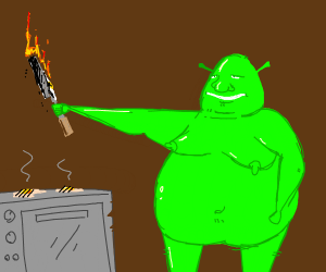 SHREK trying to cook
