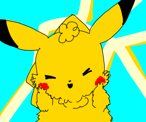 pikachu with mange
