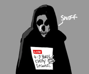 A sad Grim Reaper
