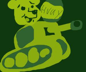 Winnie the Pooh in a tank