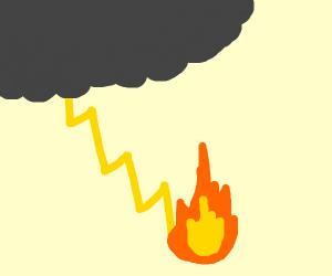 lightning creates fire