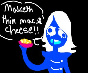Roulx Kaard is making his mac&cheese.