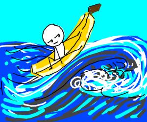 Banana surfboard