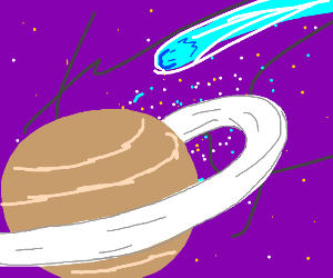 Saturn in colourful spaaace