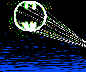 Radioactive Bat-Signal