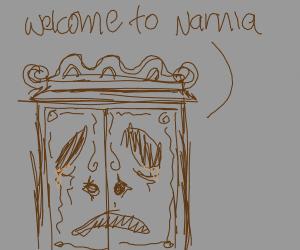 A sad Narnia entrance