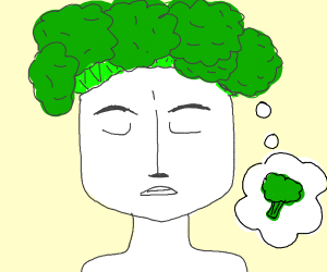 Broccoli takes over a mans brain