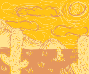 Impressionist vista of the desert
