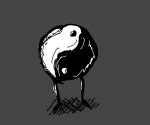 Yin yang with legs