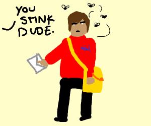 stinky mail man