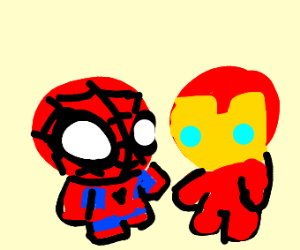 Iron man and spider man