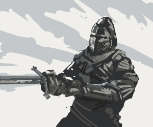 A knight with a claymore