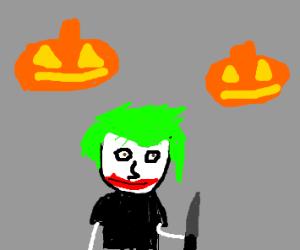 jeff the killer dresses as joker 4 halloween