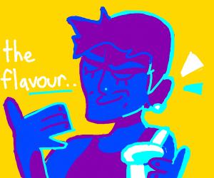 Blue Man loves the Flavor of Yogurt