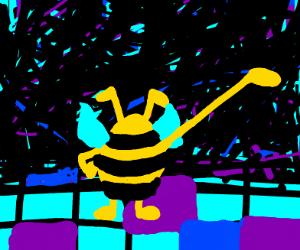 bee man at a disco