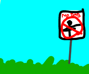 no dabbing zone sign