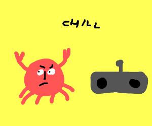 crab tells radio to chill