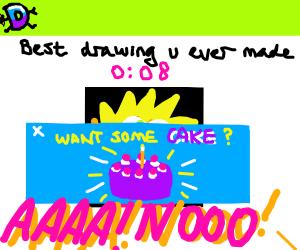 Cake popup ad