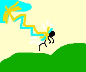 Lightning kills man
