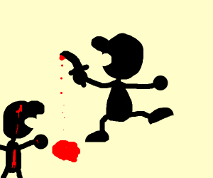 Mr game and watch is a murderer
