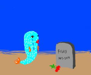 Fish whom's husband died