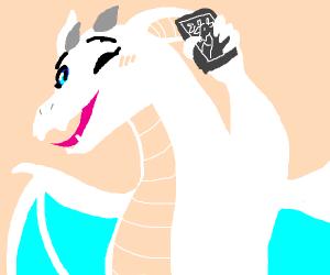 Dragon taking selfie