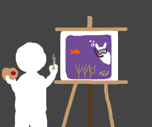 Painting a Llama Underwater