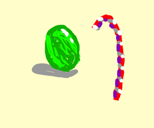 Green eggs and candy canes