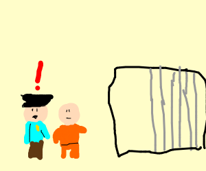 Police suddenly realizetheir prisoner escape