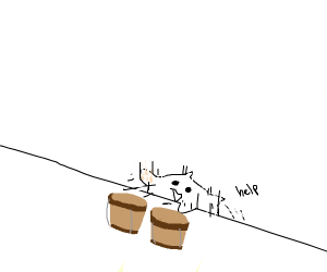 Bongo cat fell down