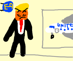 Trump at airport