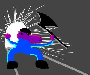 Susie from Deltarune Enters Dark World