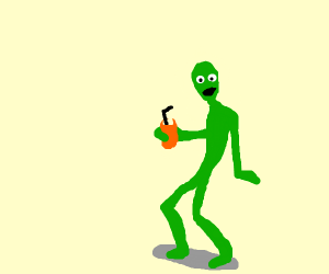 dame tu cosita alien guy chillin