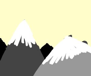 a mountain overhang
