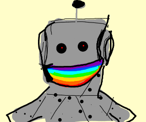 Robot with a Rainbow Mouth